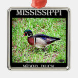Mississippi Wood Duck Christmas Ornaments