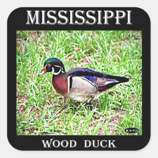 Mississippi Wood Duck Square Sticker