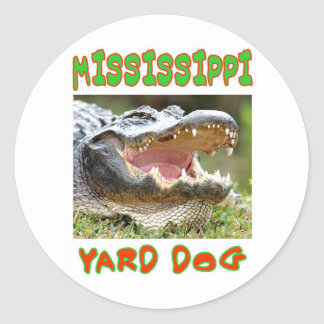 MISSISSIPPI YARD DOG CLASSIC ROUND STICKER