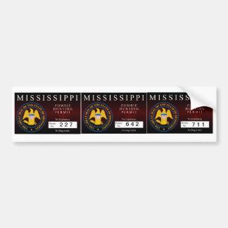 Mississippi Zombie Hunting Permit Car Bumper Sticker