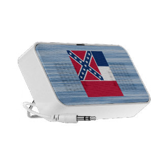 Mississippian Flag Floating on water Notebook Speaker