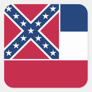 Mississippian Flag Square Sticker