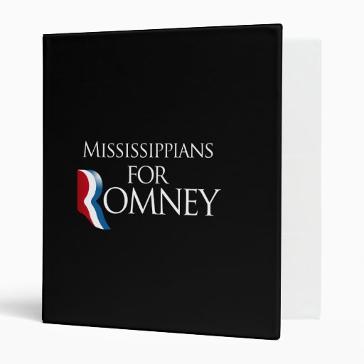 Mississippians for Romney -.png 3 Ring Binders