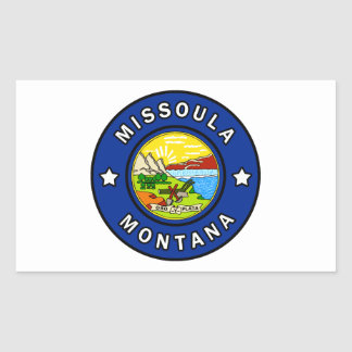Missoula Montana Rectangular Sticker