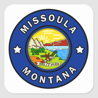 Missoula Montana Square Sticker