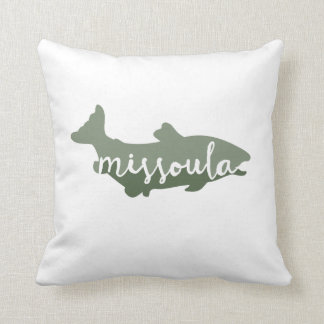 Missoula, Montana trout fishing pillow