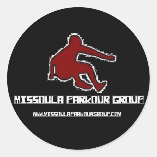 Missoula Parkour Group Logo Classic Round Sticker