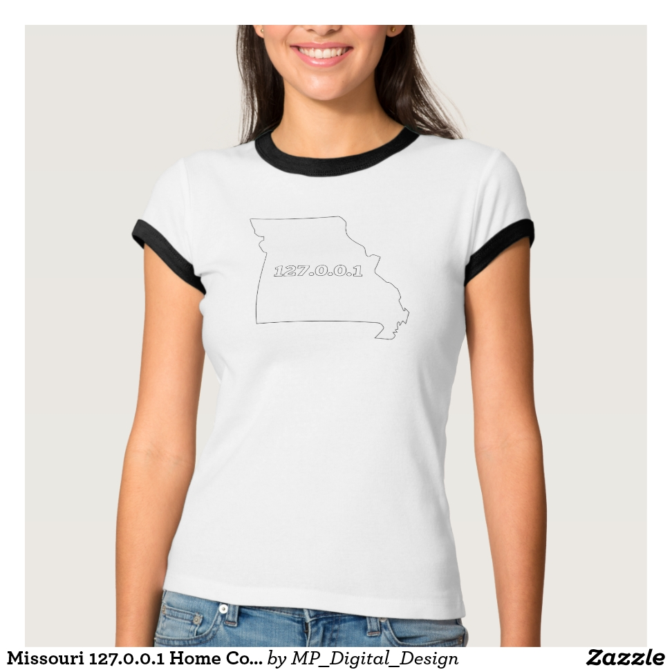 Missouri 127.0.0.1 Home Computer Nerd IP Address T-Shirt - Best Selling Long-Sleeve Street Fashion Shirt Designs