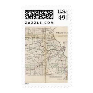 Missouri 2 postage stamps