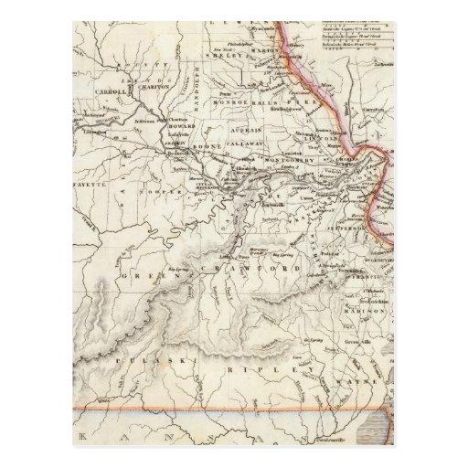 Missouri 2 tarjeta postal
