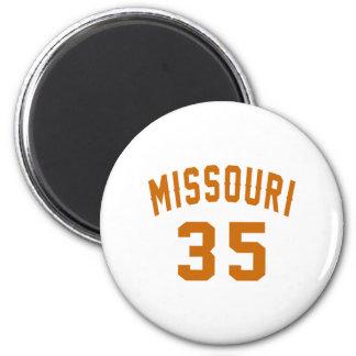 Missouri 35 Birthday Designs Magnet