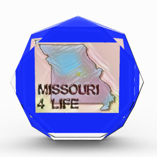 """Missouri 4 Life"" State Map Pride Design Acrylic Award"