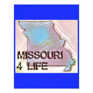"""""""Missouri 4 Life"""" State Map Pride Design Letterhead"""