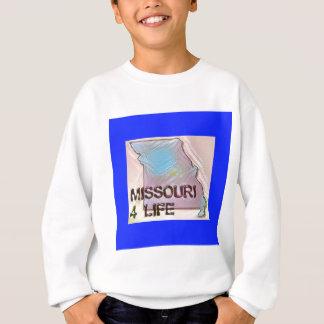 """Missouri 4 Life"" State Map Pride Design Sweatshirt"