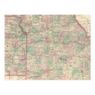 Missouri and Kansas 2 Postcard