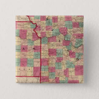 Missouri and Kansas Pinback Button