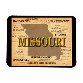 Missouri Antique Map Magnet