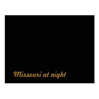 Missouri at night postcard