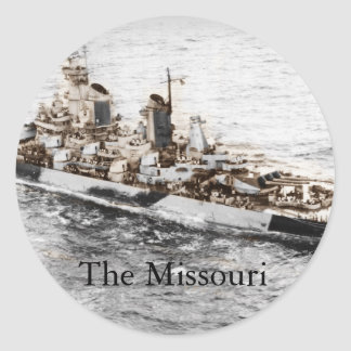 Missouri at Sea Classic Round Sticker