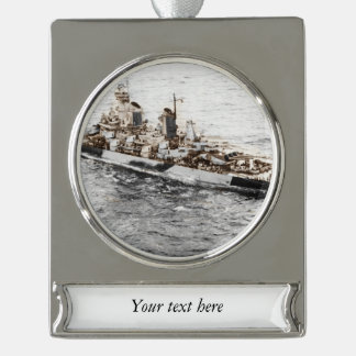 Missouri at Sea Silver Plated Banner Ornament