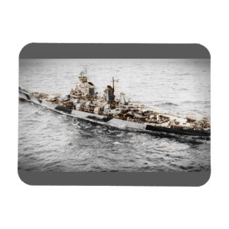 Missouri at Sea Rectangular Photo Magnet