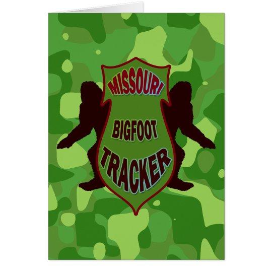 Missouri Bigfoot Tracker Card