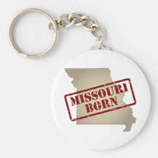 Missouri Born - Stamp on Map Keychain