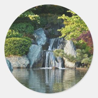 Missouri Botanical Garden Water Fall Classic Round Sticker