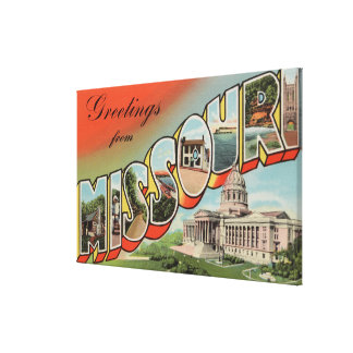 Missouri (Capital Building) - Large Letter Gallery Wrap Canvas