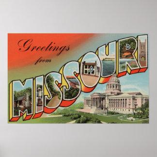 Missouri Capital Building - Large Letter Print