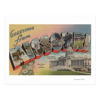 Missouri Capital del Estado flor Postal