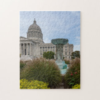 Missouri Capitol And Fountain Jigsaw Puzzle