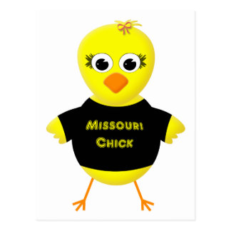 Missouri Chick Cute Cartoon Chicken Postcard