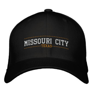 Missouri City Texas USA Embroidered Hats