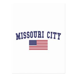 Missouri City US Flag Postcard