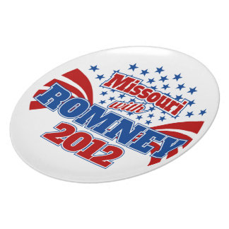 Missouri con Romney 2012 Platos Para Fiestas