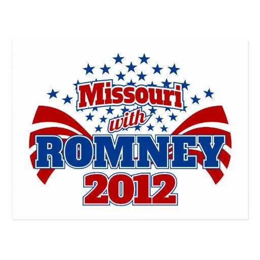 Missouri con Romney 2012 Tarjetas Postales