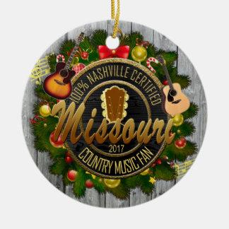 Missouri Country Music Fan Christmas Ornament