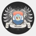 Missouri Crest Classic Round Sticker