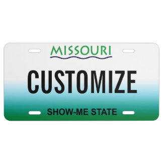Missouri Custom License Plate