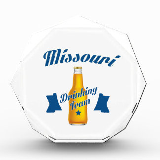 Missouri Drinking team Acrylic Award