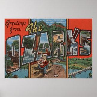 Missouri - el Ozarks - escenas grandes 2 de la let Posters