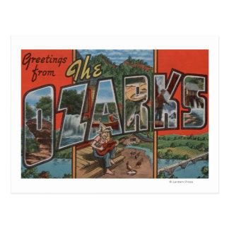 Missouri - el Ozarks - escenas grandes de la letra Postal
