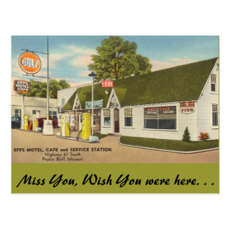 Missouri, Epps Motel, Cafe, Poplar Bluff Postcard