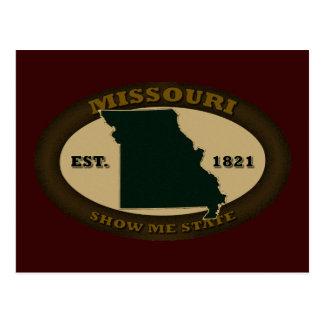 Missouri Est 1821 Postcard