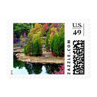 Missouri Fall Trees Postage