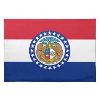 Missouri Flag American MoJo Placemat Cloth Placemat