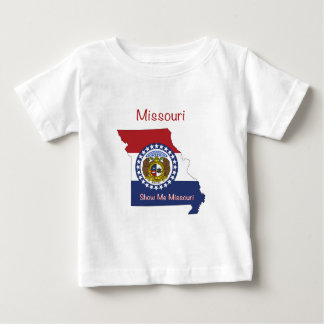 Missouri Flag and Map Baby T-Shirt