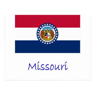 Missouri Flag And Name Postcard