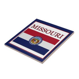 Missouri Flag Design Tile